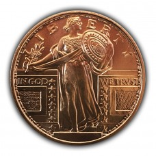 1 oz Standing Liberty 999 Copper Round