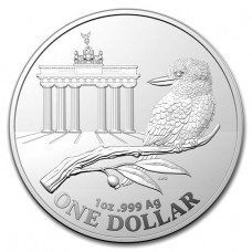 2020 1 oz $1 AUD Royal Australian Mint Silver Kookaburra Brandenburg Gate Coin BU (In Capsule)