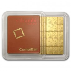 50 x 1g Gold Combi Bar Valcambi LBMA certified